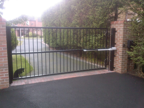 driveway gates and motors steel security man