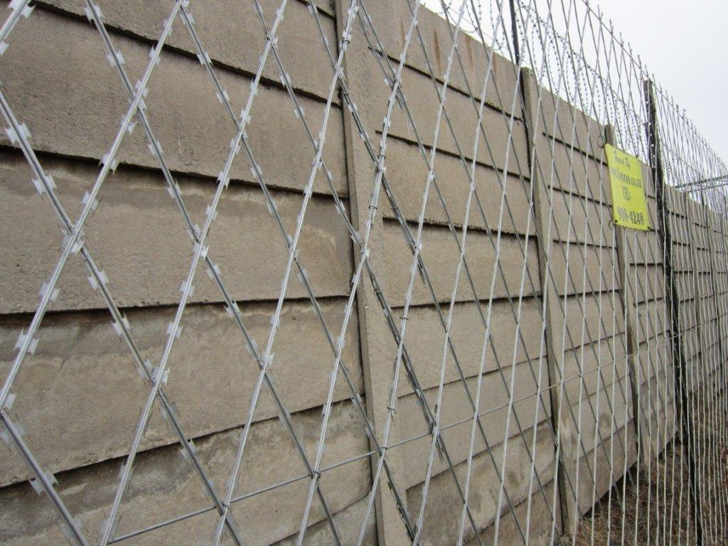 Razor wire steel security man